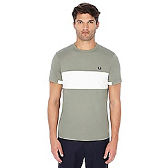 Fred Perry - Khaki chest panel t-shirt