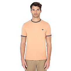 Fred Perry - Light orange embroidered logo t-shirt