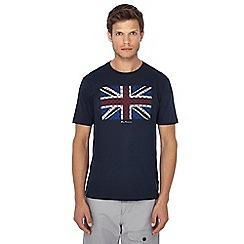 Ben Sherman - Navy Union Jack print t-shirt