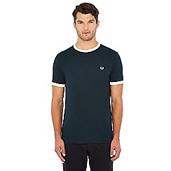 Fred Perry - Dark green embroidered logo 'Ringer' t-shirt