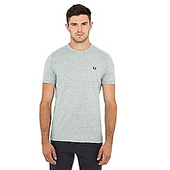 Fred Perry - Grey embroidered logo 'Ringer' t-shirt