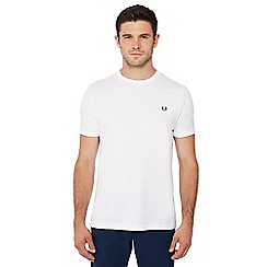 Fred Perry - White embroidered logo 'Ringer' t-shirt