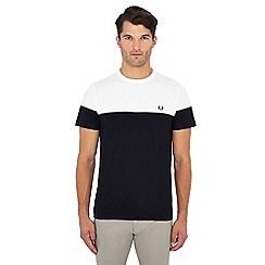 Fred Perry - White and black t-shirt