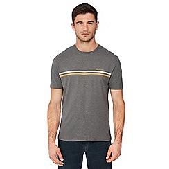 Ben Sherman - Grey chest stripe cotton t-shirt