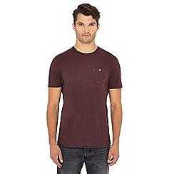Ben Sherman - Wine red chest pocket cotton T-shirt
