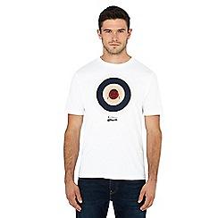 Ben Sherman - White 'Keith Moon' target print t-shirt
