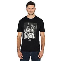 Ben Sherman - Black 'Keith Moon' print t-shirt