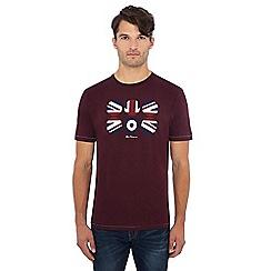 Ben Sherman - Dark red target logo flag circle print t-shirt
