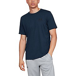 Under Armour - Navy 'UA Sport style Charged Cotton®' logo short sleeve t-shirt