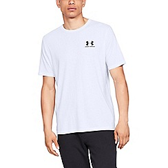 Under Armour - White 'UA Sportstyle Charged Cotton®' logo short sleeve t-shirt