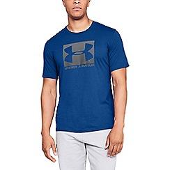 Under Armour - Blue 'UA Boxed Sport style' short sleeve t-shirt