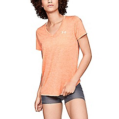 Under Armour - Peach 'UA Tech ™ ' v-neck short sleeve t-shirt