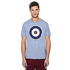 Ben Sherman - Big and tall dark blue striped target print t-shirt
