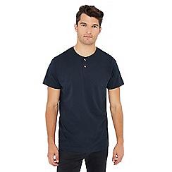 Jacamo - Navy grandad neck t-shirt
