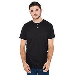 Jacamo - Black grandad neck t-shirt