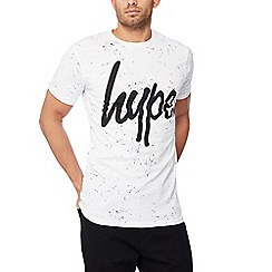 Hype - White speckled cotton t-shirt