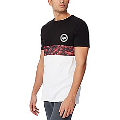 Hype - Black colour block t-shirt