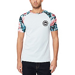 Hype - Light blue floral raglan sleeve t-shirt