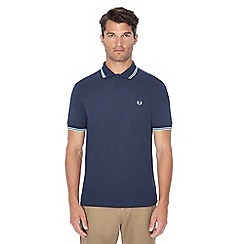 Fred Perry - Dark blue embroidered logo polo shirt