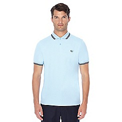Fred Perry - Light blue embroidered logo polo shirt