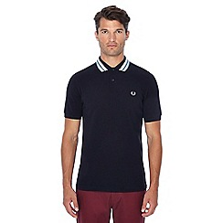 Fred Perry - Black bold tipped collar polo shirt