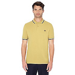 Fred Perry - Dark gold embroidered logo polo shirt