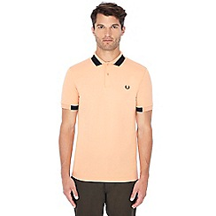 Fred Perry - Light orange block tipped polo shirt
