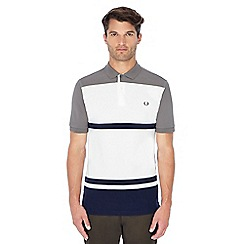 Fred Perry - Grey stripe pique polo shirt