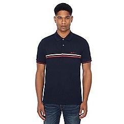 Ben Sherman - Navy chest stripe polo shirt