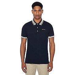 Ben Sherman - Navy multi stripe tipped polo shirt