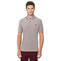 Fred Perry - Grey tipped embroidered logo polo shirt 9171bbde8