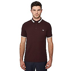 Fred Perry - Maroon tipped cotton polo shirt
