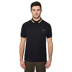 Fred Perry - Black tipped cotton polo shirt