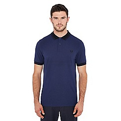 Fred Perry - Dark blue tipped polo shirt