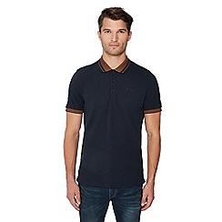 Ben Sherman - Navy pique polo shirt