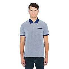 Ben Sherman - Blue Oxford polo shirt