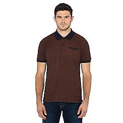 Ben Sherman - Brown Oxford polo shirt