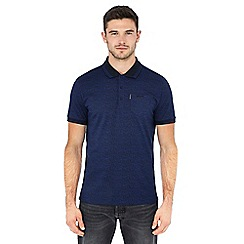 Ben Sherman - Blue 'Keith Moon' print polo shirt