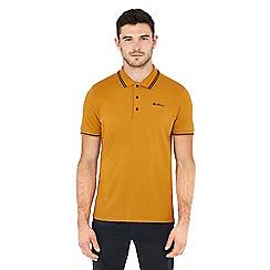 Ben Sherman - Mustard tipped cotton polo shirt