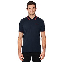Ben Sherman - Navy tipped cotton polo shirt