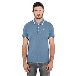 Ben Sherman - Blue tipped cotton polo shirt