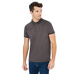 Jacamo - Grey tipped cotton rich polo shirt