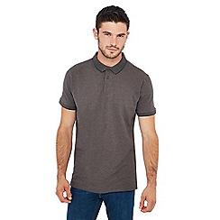 Jacamo - Dark grey tipped polo shirt