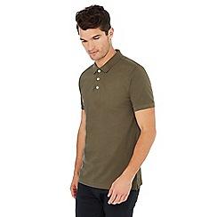 Jacamo - Khaki cotton polo shirt