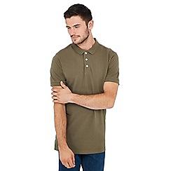 Jacamo - Big and tall khaki polo shirt