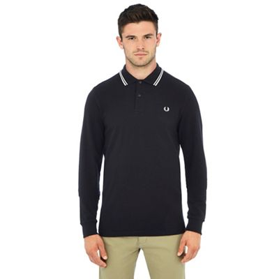Fred Perry   Black Tipped Polo Shirt by Fred Perry