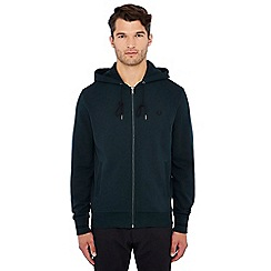 Fred Perry - Dark green logo embroidered hooded sweatshirt