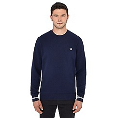 Fred Perry - Navy embroidered logo sweatshirt