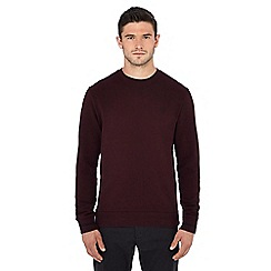 Fred Perry - Dark red embroidered logo sweatshirt