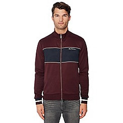 Ben Sherman - Wine red stripe trim track jacket